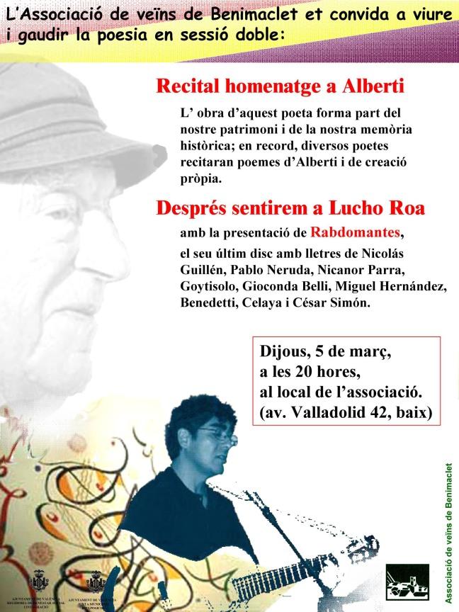 recital en homenaje a Alberti