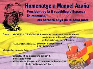 Homenaje a Manuel Azaña