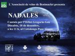 Concierto del Orfeón Gregorio Gea, de Benimaclet