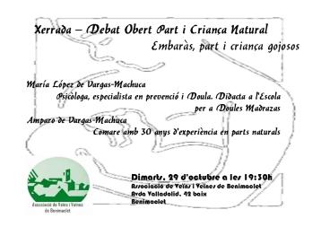 2013.10.29 xerrada debat obert Part i Criança Natural
