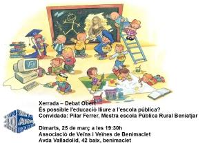 2014.03.25 xerrada debat obert és possible leducació lliure a lescola publica