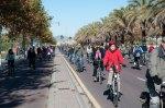 Acción reivindicativa carril bici en Ronda Norte-2-12-2012