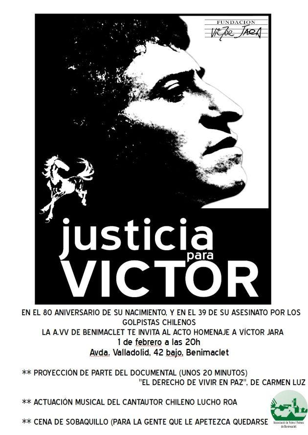 Acte -JUSTICIA PER A VÍCTOR JARA