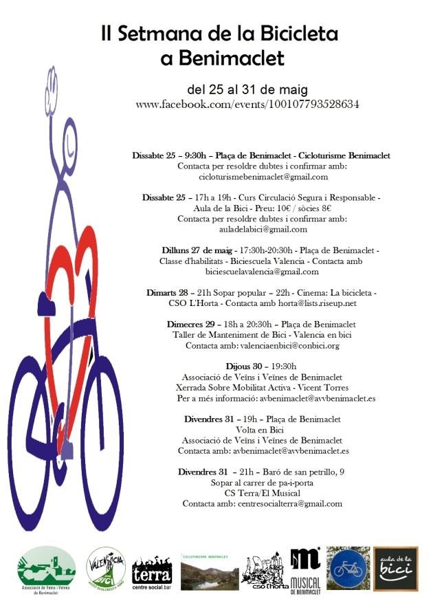 2013.05 cartell II setmana de la bicicleta