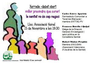 2012.11.15 xerrada sanitat - cartell amb ponents