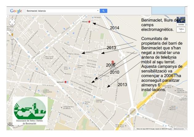 2014 mapa propostes instalacio antena telefonia mobil